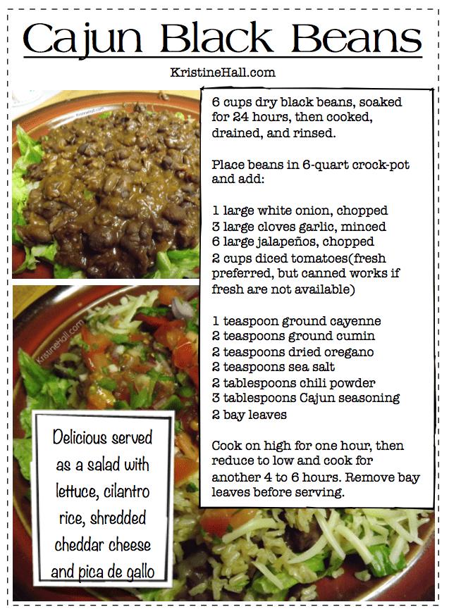 cajun black beans recipe