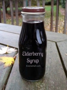 elderberry syrup in bottle