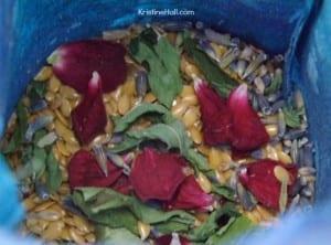 inside herbal pillow
