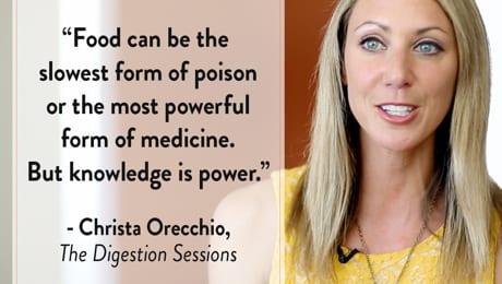 Christa Orecchio digestion sessions knowledge