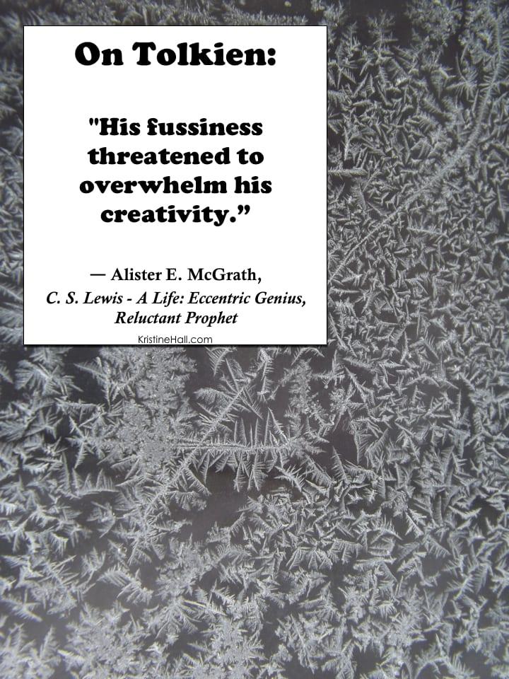 mcgrath quote on tolkien's fussiness